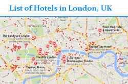 List of hotels in London with address | List of Hotels in UK