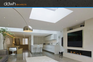 DDWH Architects, UK - open-plan living space