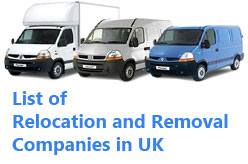 List of Removal Companies in UK