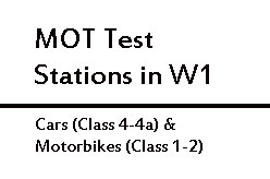 MOT Test Stations in W1