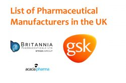 List of Pharmaceutical Manufacturers in The United Kingdom